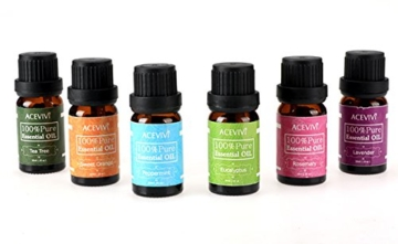 ACEVIVI Ätherisches Öl Essential Oils 100% Pure Therapeutic Grade 6 Set(10ml) -