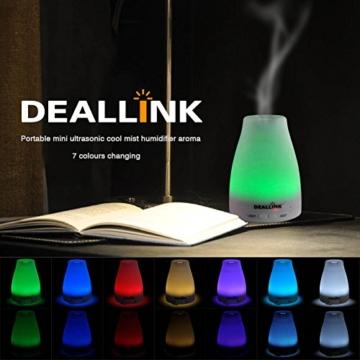 aroma diffuser 100ml deallink ultraschall luftbefeuchter mit 7 led farbwechsel kalten nebel f r. Black Bedroom Furniture Sets. Home Design Ideas