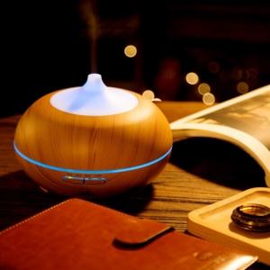 Aroma Diffuser Test Anypro 300ml Holzmaserung elektrische Duftlampe