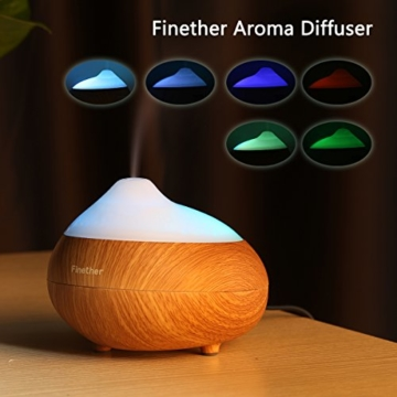 ultraschall luftbefeuchter duftzerst uber duft aroma diffuser mit led farbwechsel therische le. Black Bedroom Furniture Sets. Home Design Ideas